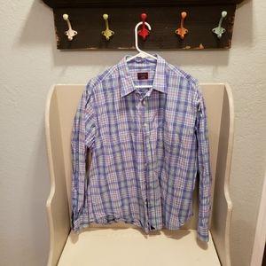 UNTUCKit Pastel Plaid Button Down Shirt XL